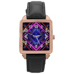 Galaxy Rose Gold Leather Watch