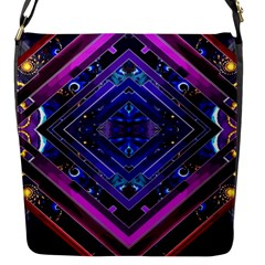 Galaxy Flap Closure Messenger Bag (Small)