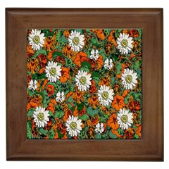 Flowers Framed Ceramic Tile