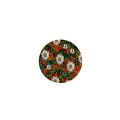 Flowers 1  Mini Button Magnet