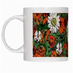 Flowers White Coffee Mug