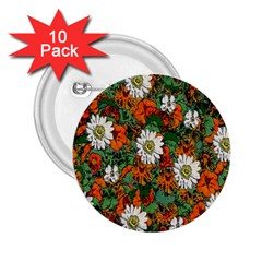 Flowers 2.25  Button (10 pack)