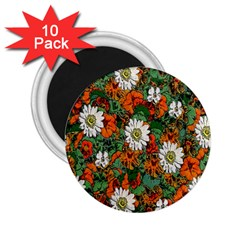 Flowers 2.25  Button Magnet (10 pack)