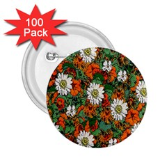 Flowers 2.25  Button (100 pack)