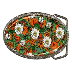 Flowers Belt Buckle (oval)