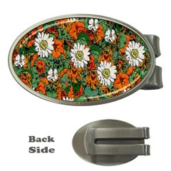 Flowers Money Clip (Oval)