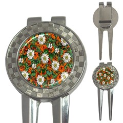 Flowers Golf Pitchfork & Ball Marker