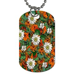 Flowers Dog Tag (one Sided)