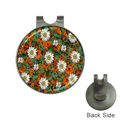 Flowers Hat Clip with Golf Ball Marker