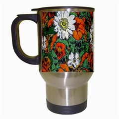 Flowers Travel Mug (White)