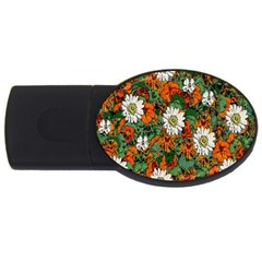 Flowers 4GB USB Flash Drive (Oval)
