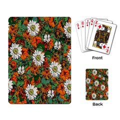 Flowers Playing Cards Single Design