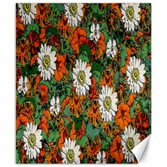Flowers Canvas 8  x 10  (Unframed)