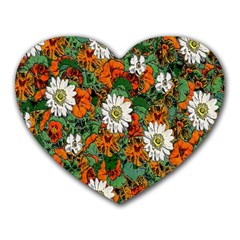 Flowers Mouse Pad (heart)