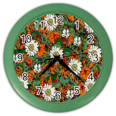 Flowers Wall Clock (Color)