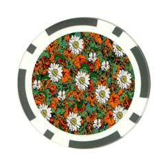 Flowers Poker Chip