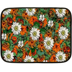Flowers Mini Fleece Blanket (two Sided)