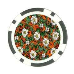 Flowers Poker Chip (10 Pack)