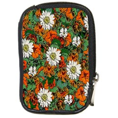 Flowers Compact Camera Leather Case