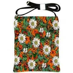 Flowers Shoulder Sling Bag