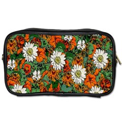 Flowers Travel Toiletry Bag (two Sides)