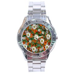 Flowers Stainless Steel Watch