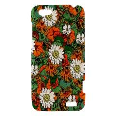 Flowers HTC One V Hardshell Case