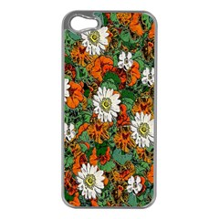 Flowers Apple iPhone 5 Case (Silver)