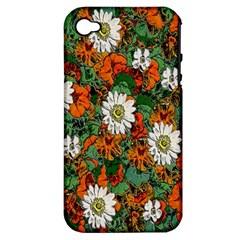 Flowers Apple Iphone 4/4s Hardshell Case (pc+silicone)