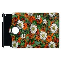 Flowers Apple iPad 3/4 Flip 360 Case