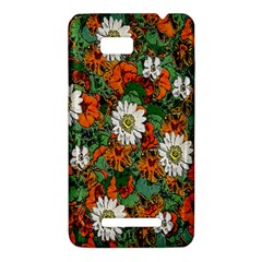 Flowers HTC One SU T528W Hardshell Case
