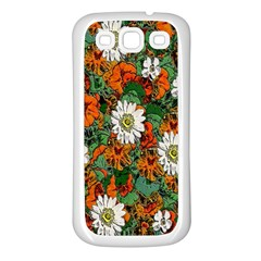 Flowers Samsung Galaxy S3 Back Case (White)