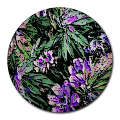 Garden Greens 8  Mouse Pad (Round)