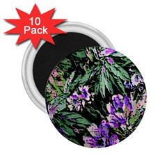 Garden Greens 2.25  Button Magnet (10 pack)