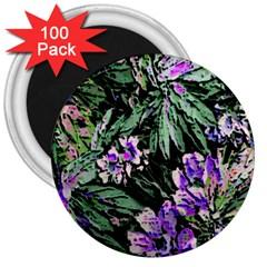 Garden Greens 3  Button Magnet (100 pack)
