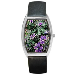 Garden Greens Tonneau Leather Watch