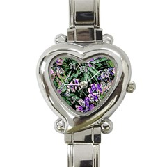 Garden Greens Heart Italian Charm Watch