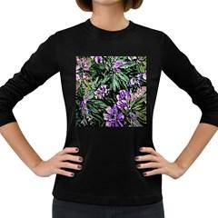 Garden Greens Women s Long Sleeve T-shirt (Dark Colored)