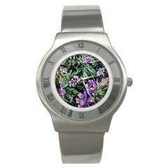 Garden Greens Stainless Steel Watch (Slim)