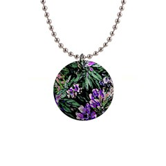 Garden Greens Button Necklace