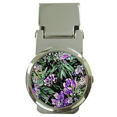 Garden Greens Money Clip with Watch