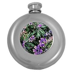 Garden Greens Hip Flask (Round)