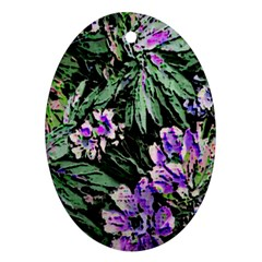 Garden Greens Oval Ornament (Two Sides)