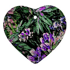 Garden Greens Heart Ornament (two Sides)