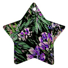 Garden Greens Star Ornament (Two Sides)