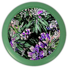 Garden Greens Wall Clock (Color)