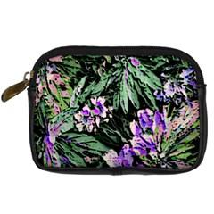 Garden Greens Digital Camera Leather Case