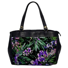 Garden Greens Oversize Office Handbag (one Side)