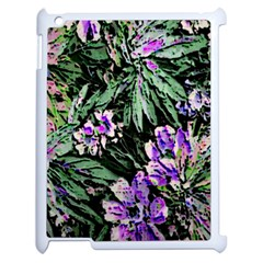 Garden Greens Apple iPad 2 Case (White)