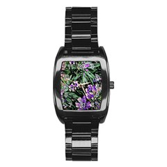 Garden Greens Stainless Steel Barrel Watch